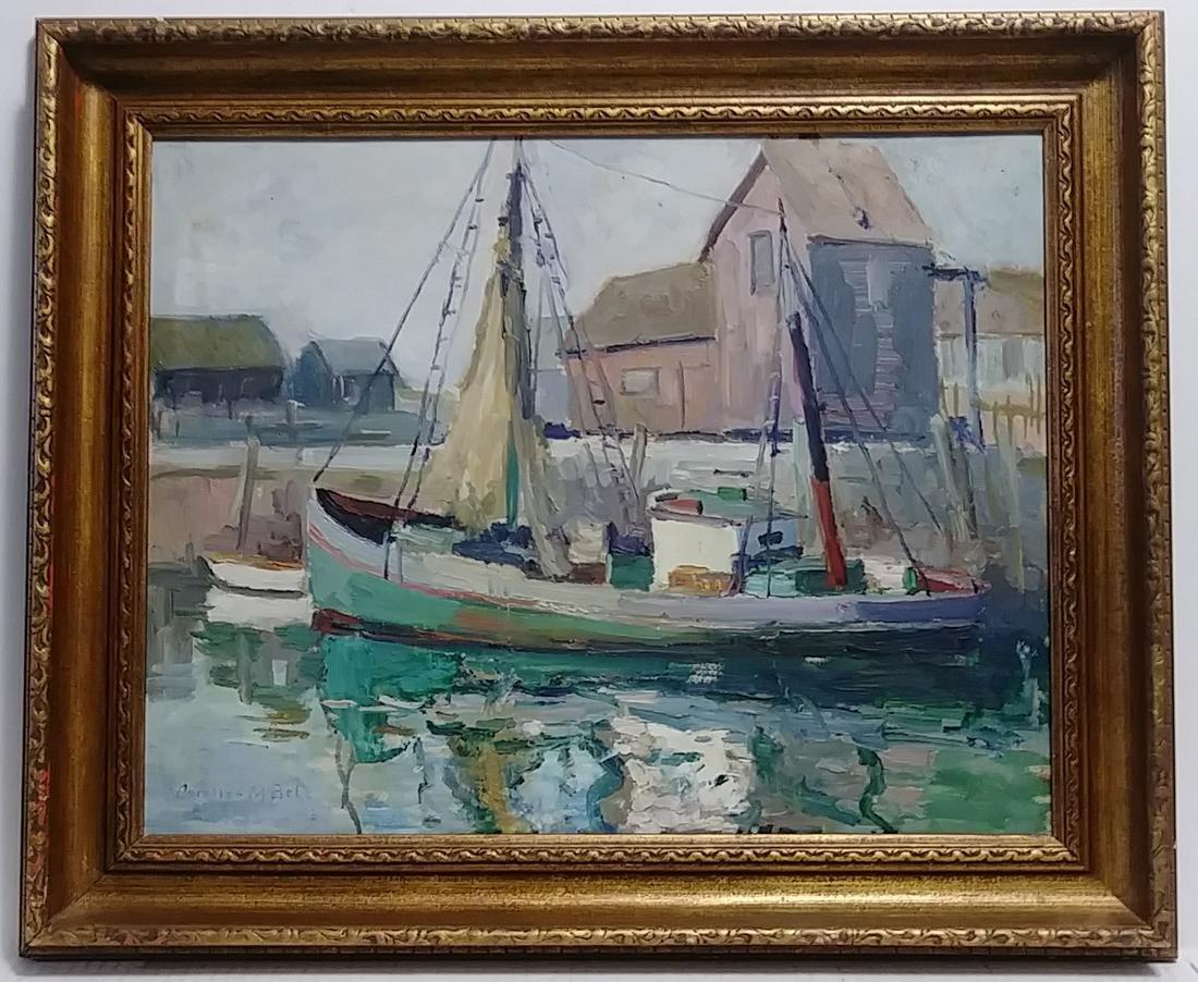 Caroline M. Bell (Amer,1874-1970) c. 1930 Oil Painting