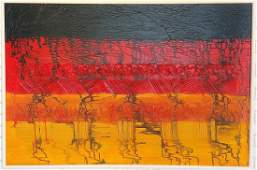 Original Abstract Modern Painting Signed H Richter