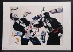 NYC Pop Contemporary Art Print Lithograph W/Certificate