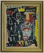 Jean MichelBasquiat 196088 After Framed Painting