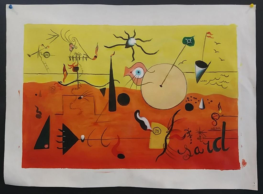 Joan MIro Abstract Oil Painting