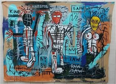 XX Large Jean Michel-Basquiat N York Art Painting