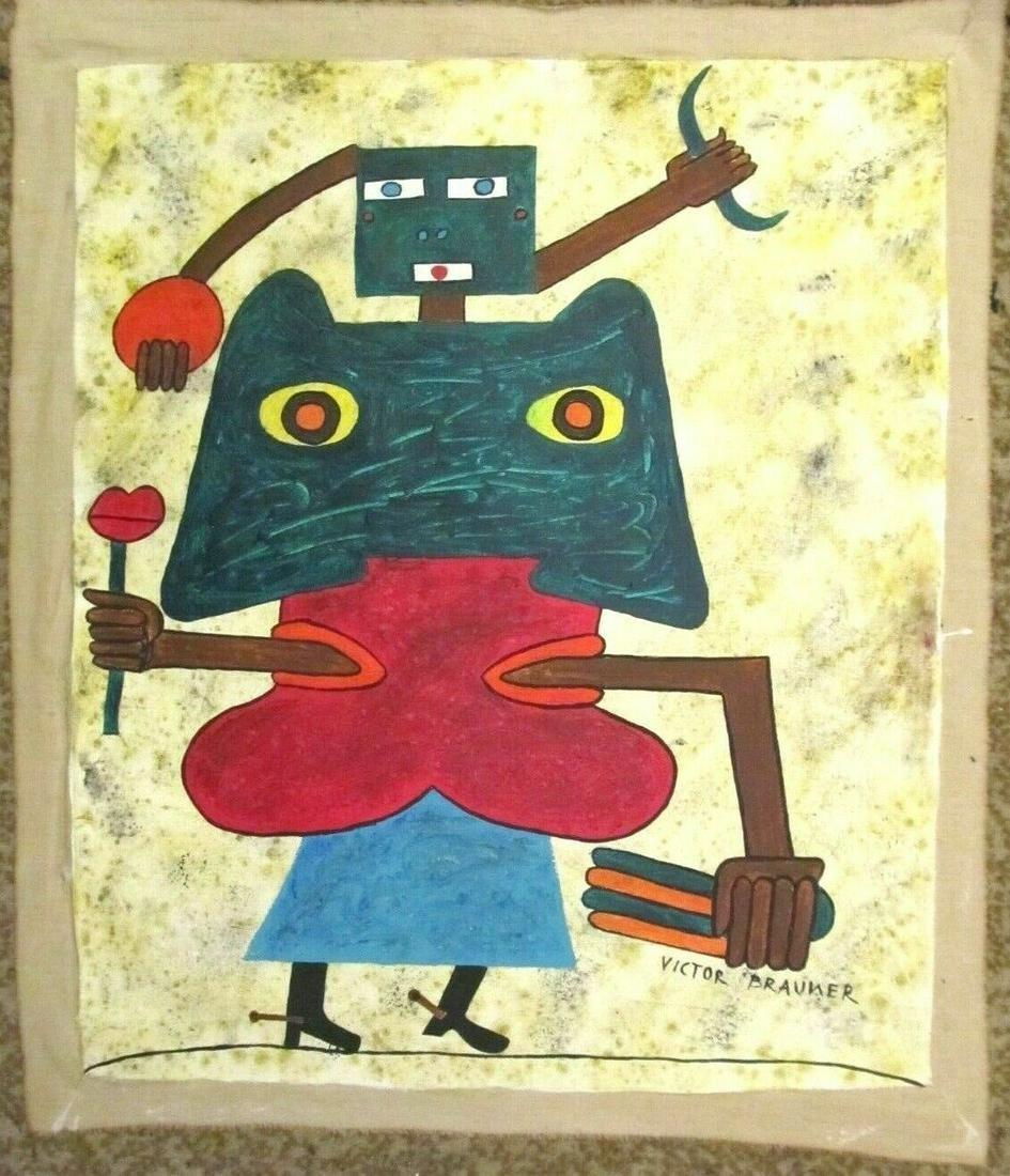 Signed Victor Brauner 20th Century Modern Painting