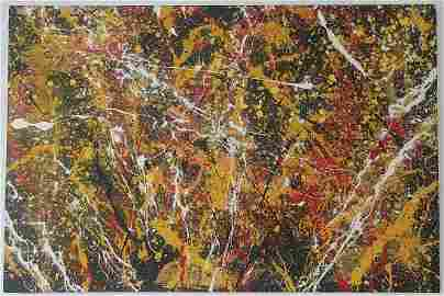 Jackson Pollock After Untitled Abstract Painting