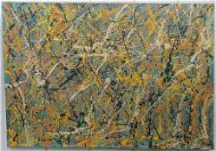Interesting Signed Jackson Pollock Abstract Painting