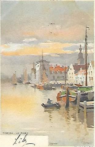 French-La Belgique Pittoresque Litho Postcard