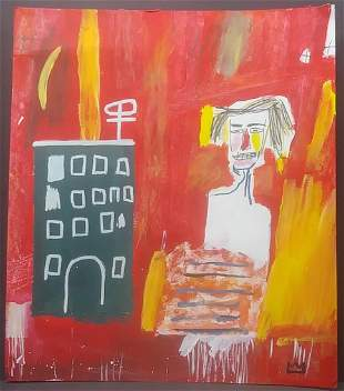 New York Expressionist Painting Mixed Media