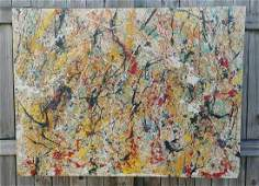X Large Jackson Pollock Contemporary Abstract Painting