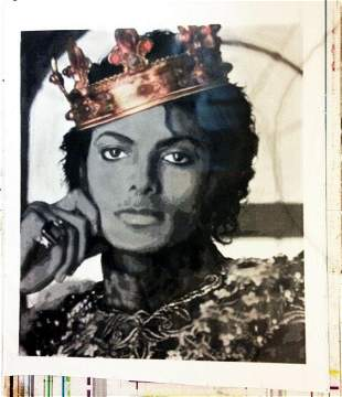 Huge Michael Jackson Oil Painting on Canvas Signed