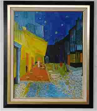 Street Scenes Oil Painting Signed