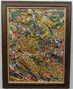 Jackson Pollock Abstract Modernist Painting Framed
