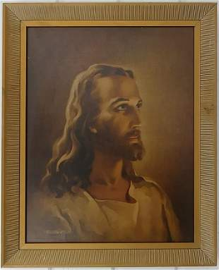 Vintage Christ Art Prints Lithograph Framed.