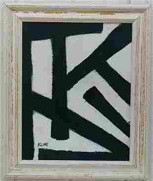 Kline Abstract Art Painting on Canvas Unframed