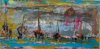 Original American Regionalism Painting Morro Bay CA