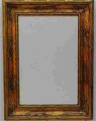 Italian Abstract Textura Painting Framed.