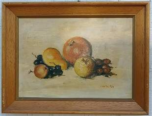 Vintage Still Life Oil Painting Signed Painting