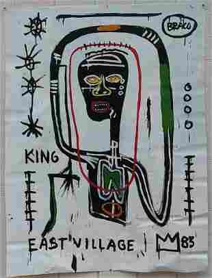 Large Jean Michel-Basquiat N York Art Painting