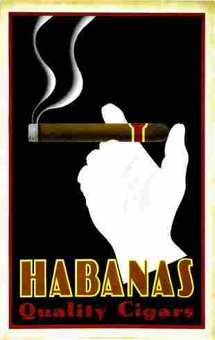 Large Habanas Quality Cigar Print Poster, Thick Paper