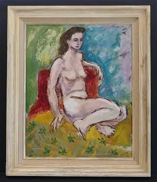 1968 Paris Pablo Picasso Cubism Oil Painting Framed