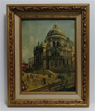 Old Canaletto Venice Framed Print
