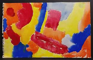 1973 H Frankenthaler New York Abstract Painting Signed
