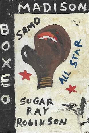 JMB Signed Painting - Sugar Ray Robinson