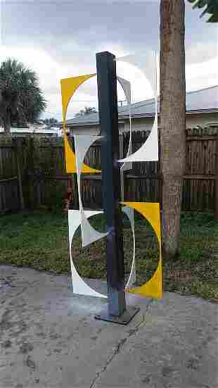 OUTDOOR INDUSTRIAL STEEL METAL SCULPTURE MODERN CONTEMP
