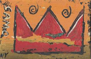 JMB Signed Painting New York - Samo Crown