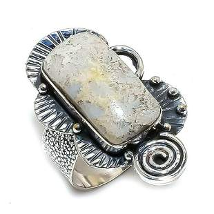Fossil Coral Gemstone Handmade Ethnic 925 Sterling Silv