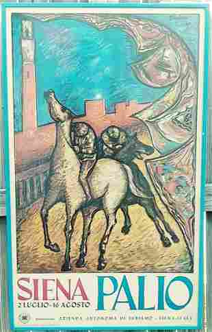 Vintage Picasso Framed Lithograph Print -Italia