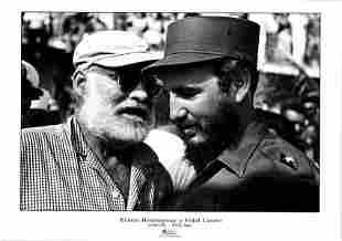 Fidel Castro & Ernest Hemingway, Habana Cuba 1960 Print