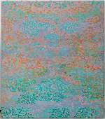 Large Contemporary Moder Abstract Pointillism Painting