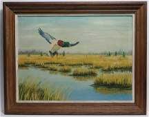Vintage Grace G Scull C Florida Ducks Oil Painting