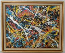 Jackson Pollock Abstract Painting.