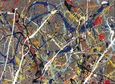 Jackson Pollock Abstract Painting on Paper