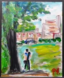 Original N York Street Impressionism Plain Air Painting