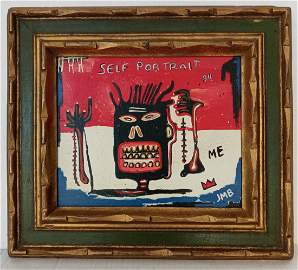 Jean-Michele Basquiat NYC Street Painting Framed