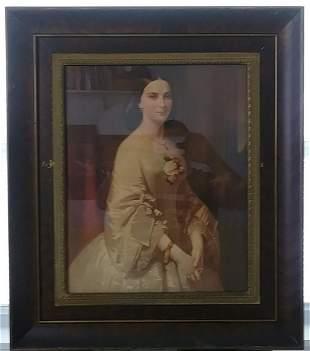 Vintage 1959 Noble woman Framed Print