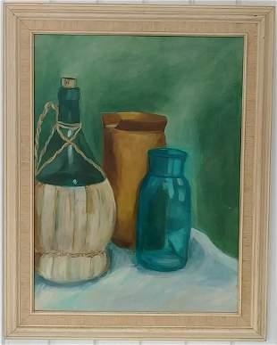 Vintage Wilson1957 Still Life Oil Painting