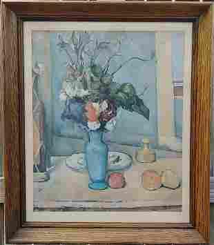 Vintage Paul Cezanne -The Blue Vase - Framed Print