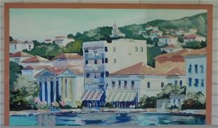 """Joseph La Pierre """"A River Walk"""" Signed Painting"""