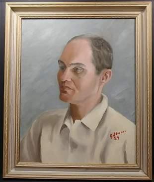 Original Amer Artist Gillmore 59 Oil Painting on Canvas