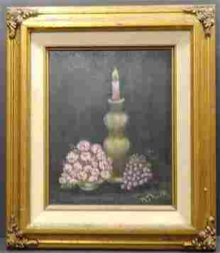 Vintage Original Oil Painting signed by artist M. S