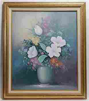 G. Montaigne Oil Painting Still Life Flowers