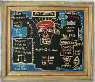 Jean-Michele Basquiat -HEAD- NYC Street Painting