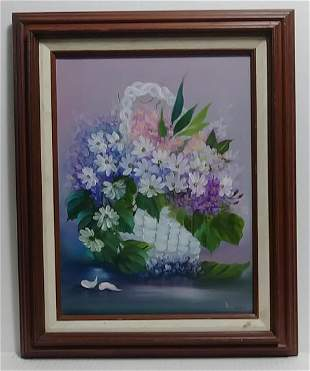 Carl (Ame) Oil Painting Floral Still Life