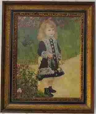 Renoir Print Paper on canvas Framed.