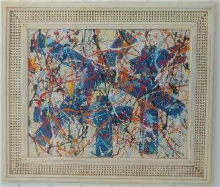 Signed San Francis Abstract Modernist Painting