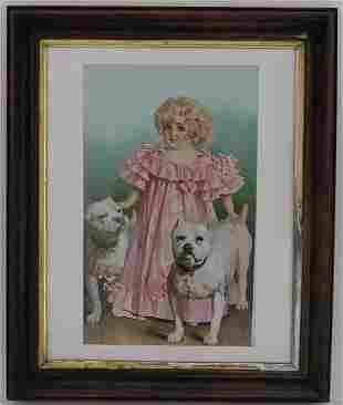 Vintage Framed Print.
