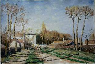 Impressionism Landscape Oil Painting-Entrance to the V